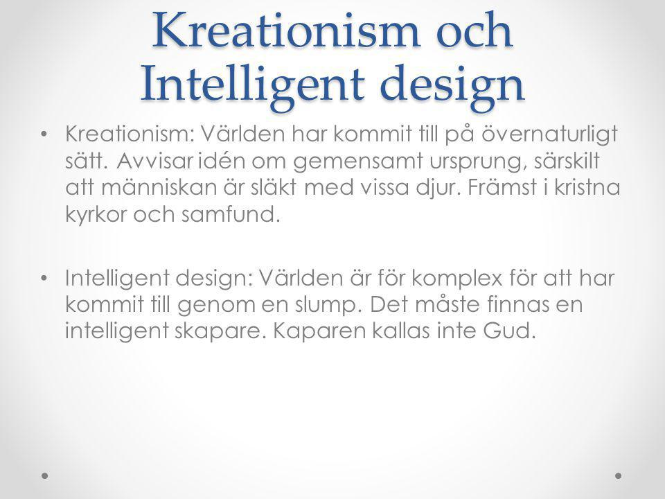Kreationism och Intelligent design