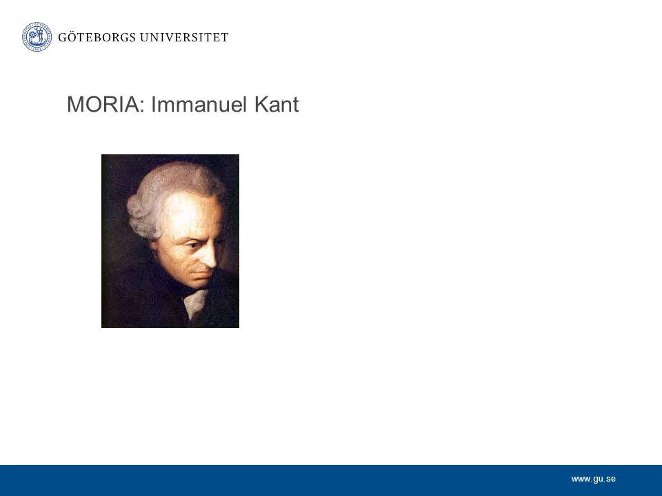 MORIA: Immanuel Kant