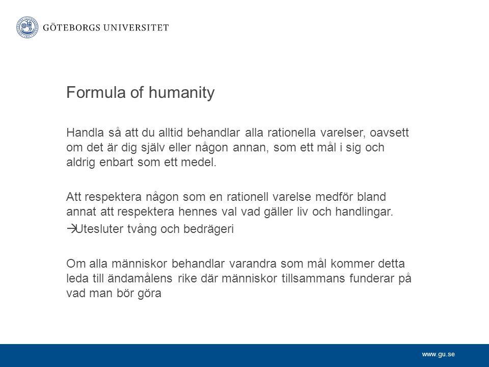 Formula of humanity