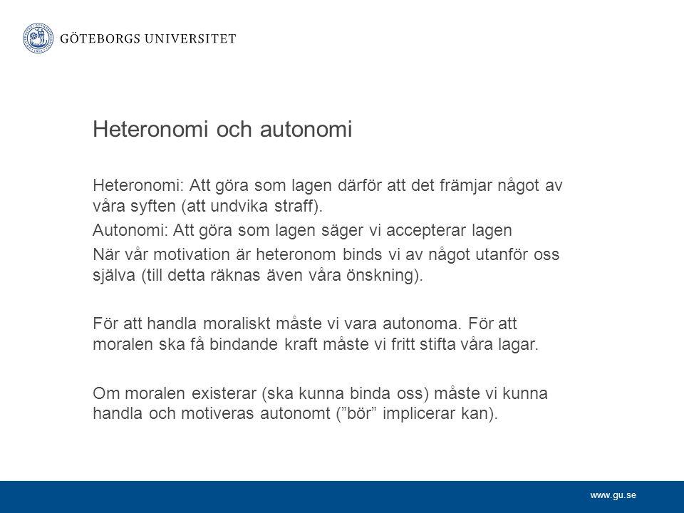 Heteronomi och autonomi