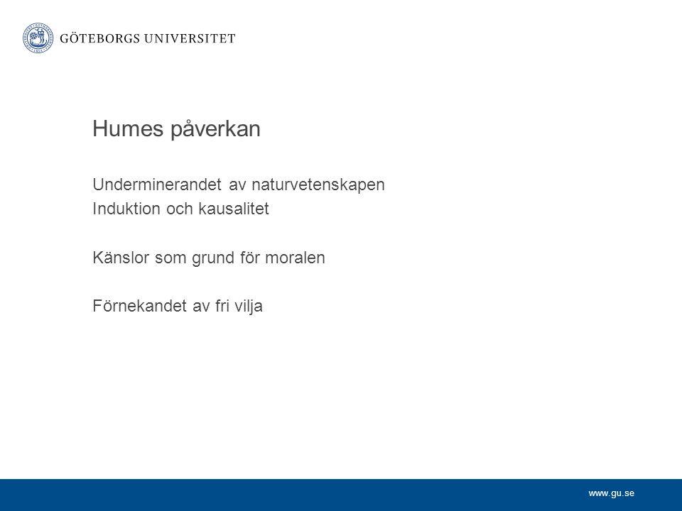 Humes påverkan Underminerandet av naturvetenskapen