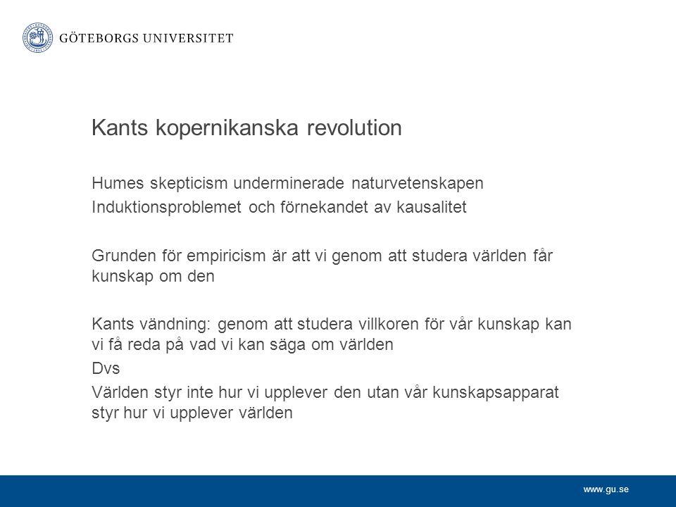 Kants kopernikanska revolution