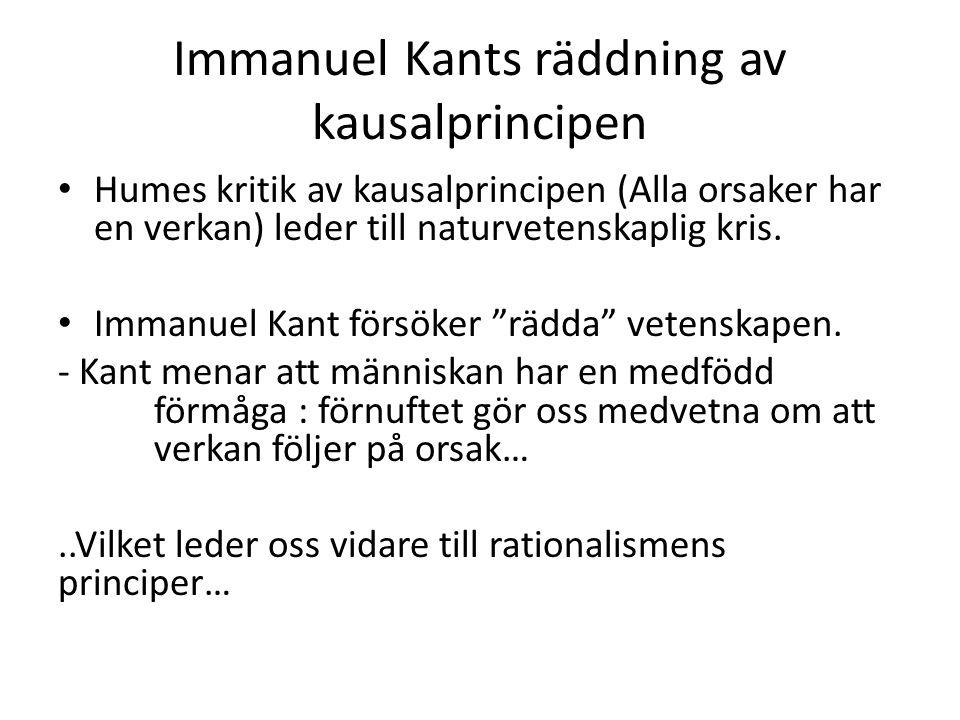 Immanuel Kants räddning av kausalprincipen