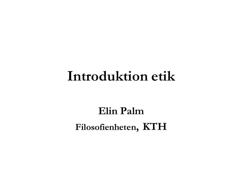 Elin Palm Filosofienheten, KTH