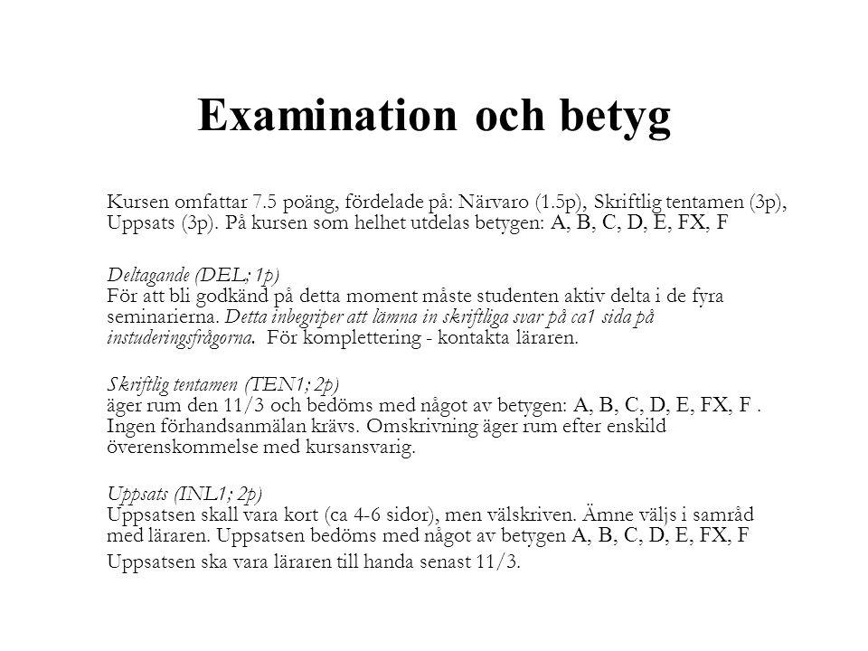 Examination och betyg