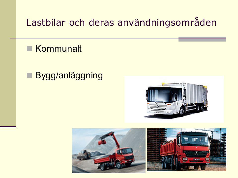 Lastbilar och deras användningsområden