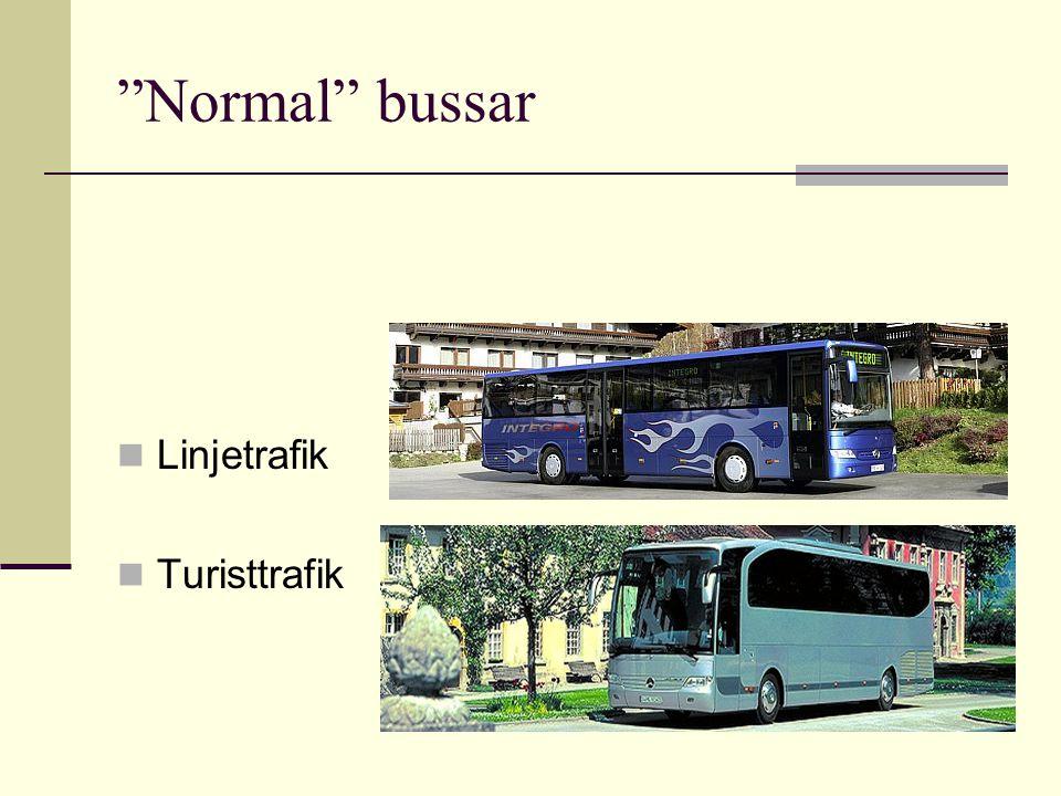 Normal bussar Linjetrafik Turisttrafik