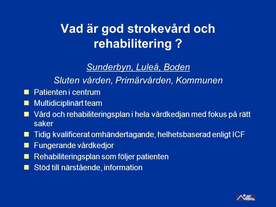 Vad är god strokevård och rehabilitering