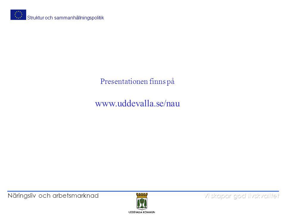 Presentationen finns på