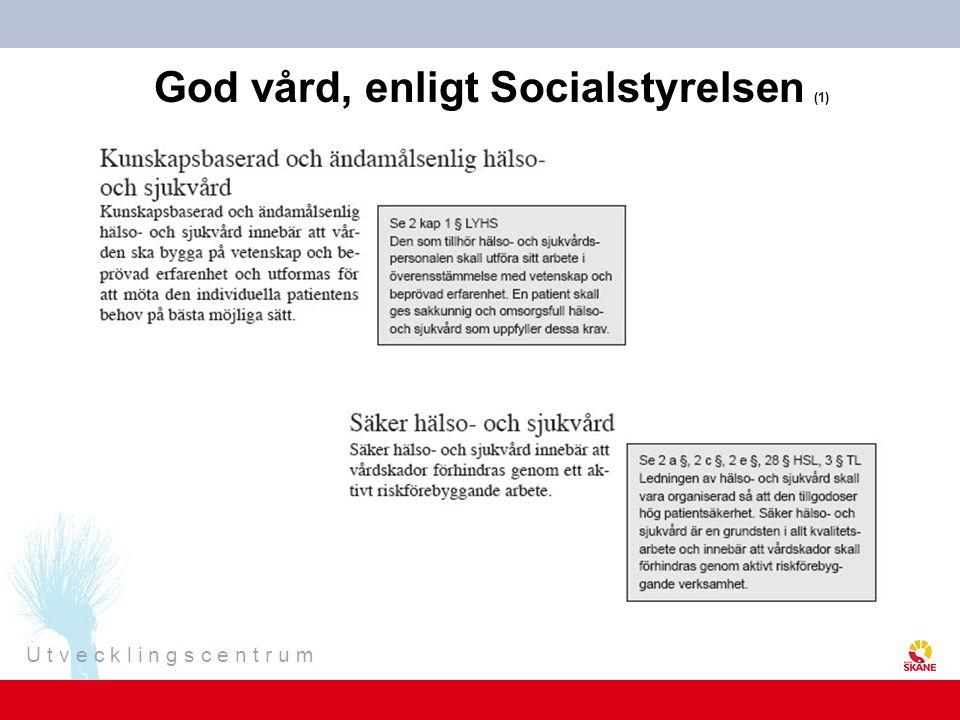 God vård, enligt Socialstyrelsen (1)