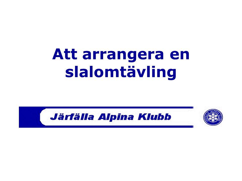 Att arrangera en slalomtävling