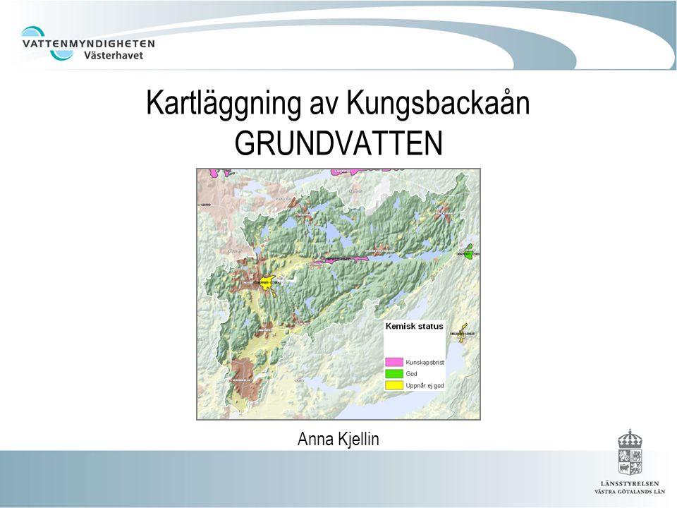 Kartläggning av Kungsbackaån GRUNDVATTEN