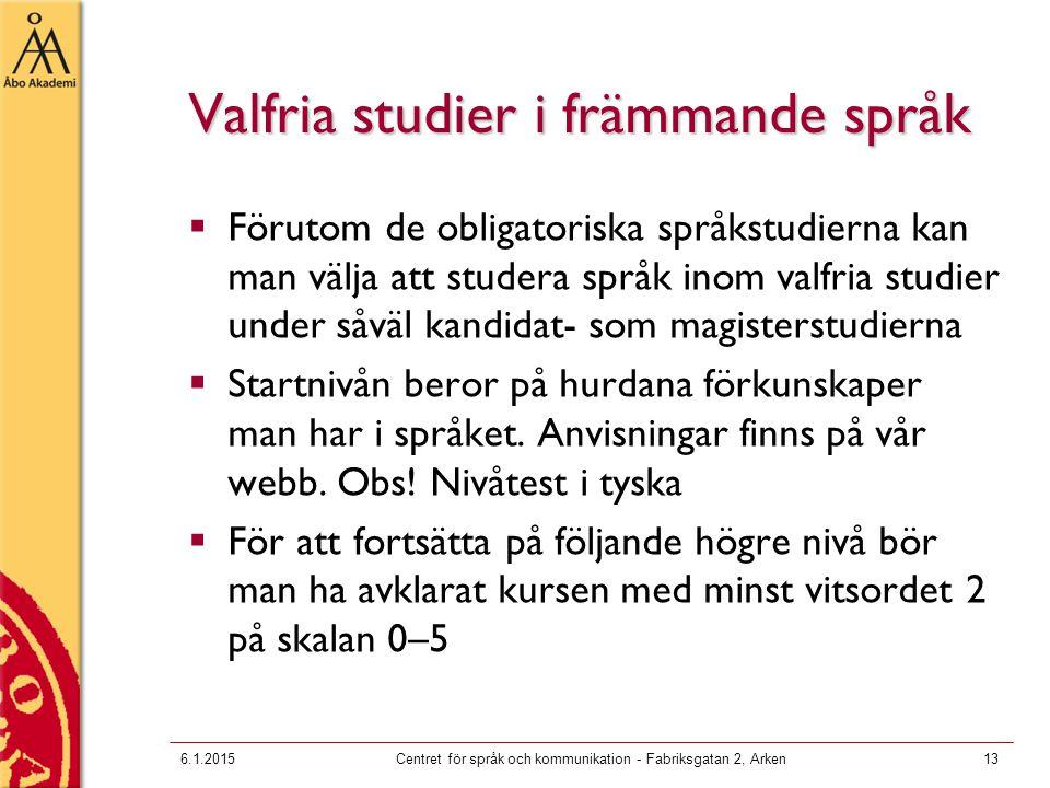 Valfria studier i främmande språk