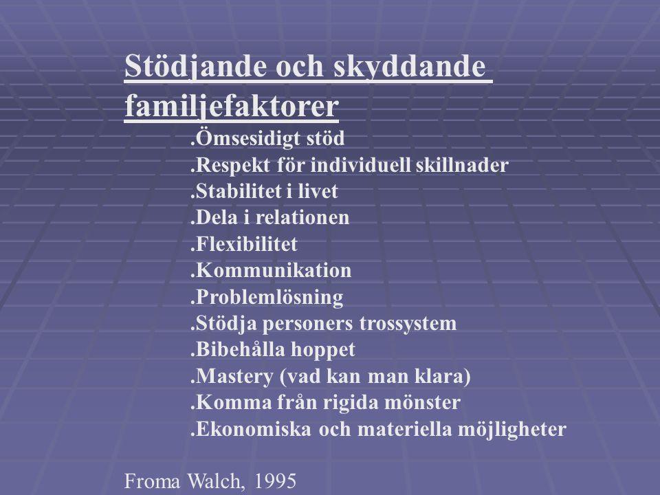 Stödjande och skyddande familjefaktorer