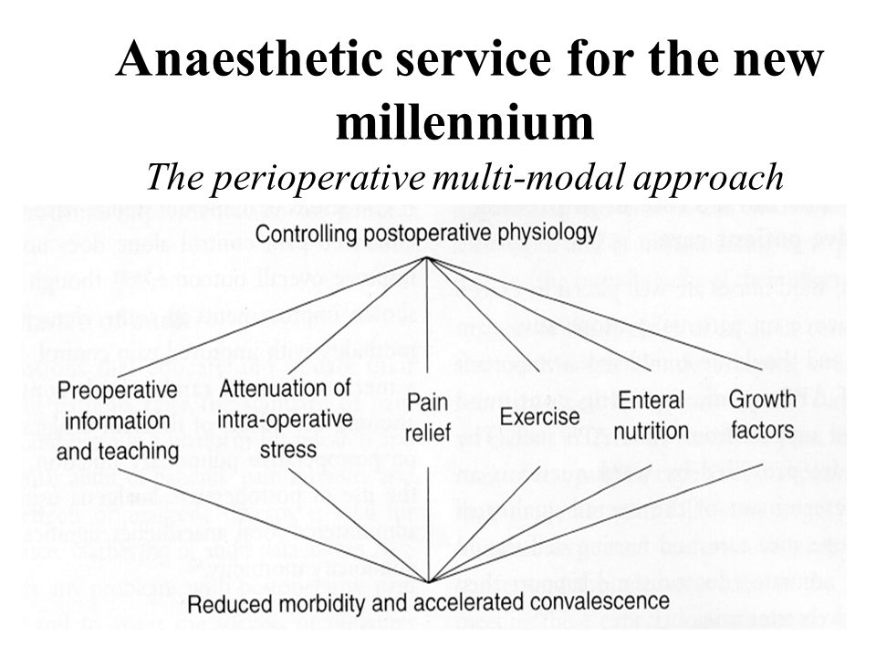 Anaesthetic service for the new millennium The perioperative multi-modal approach