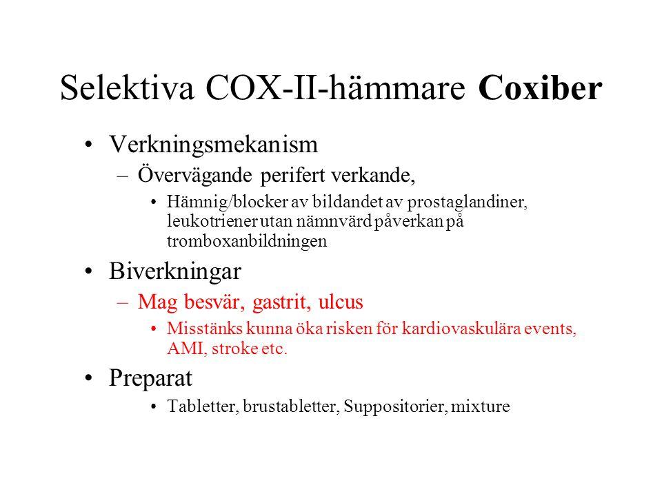 Selektiva COX-II-hämmare Coxiber