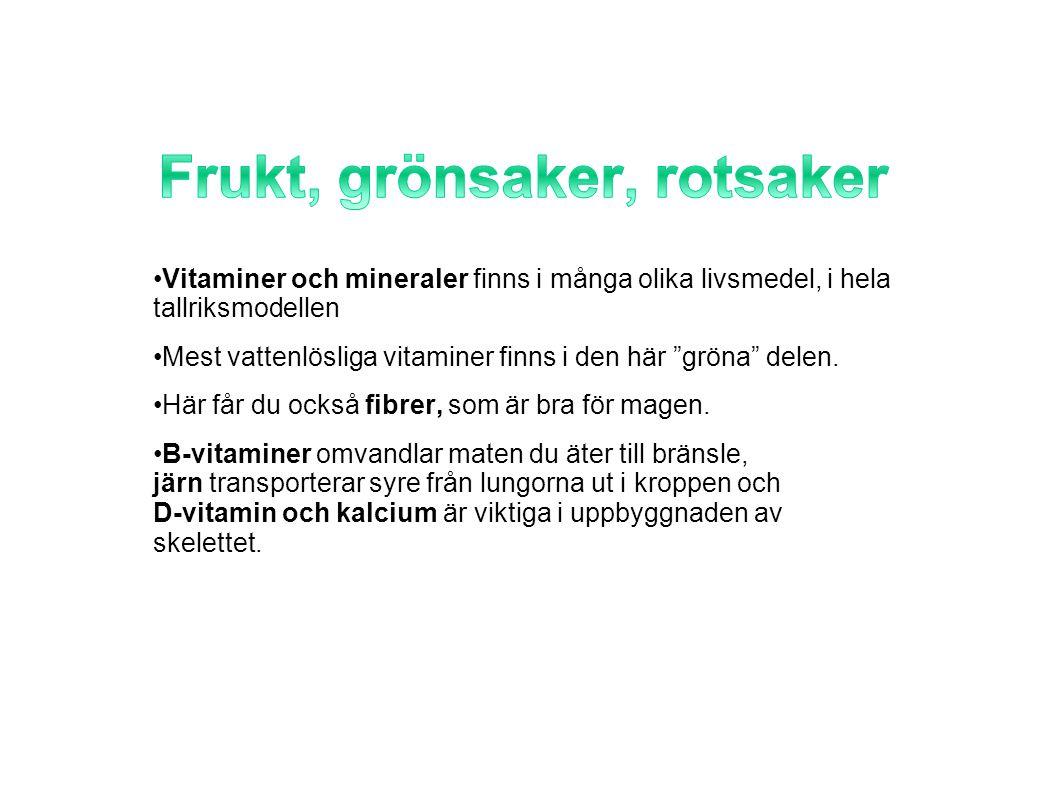Frukt, grönsaker, rotsaker