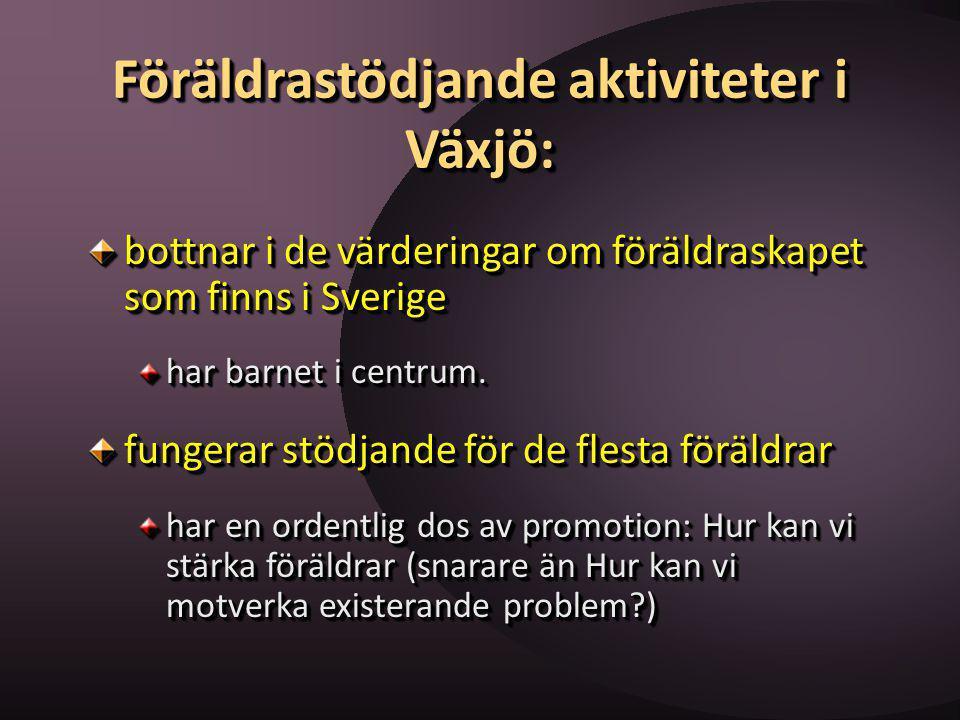 Föräldrastödjande aktiviteter i Växjö: