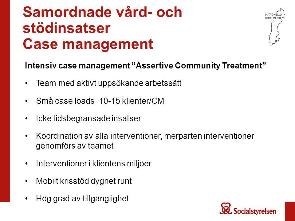 Samordnade vård- och stödinsatser Case management