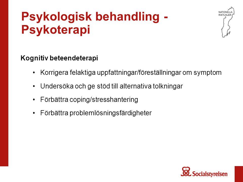 Psykologisk behandling - Psykoterapi