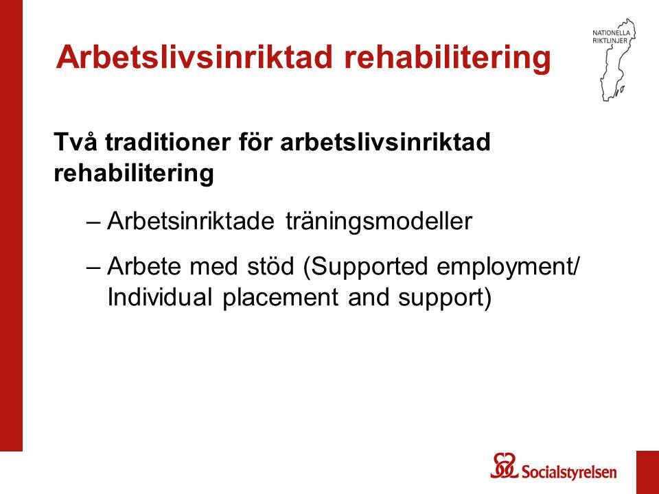 Arbetslivsinriktad rehabilitering