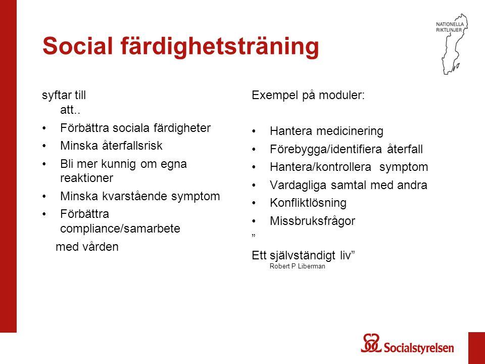 Social färdighetsträning