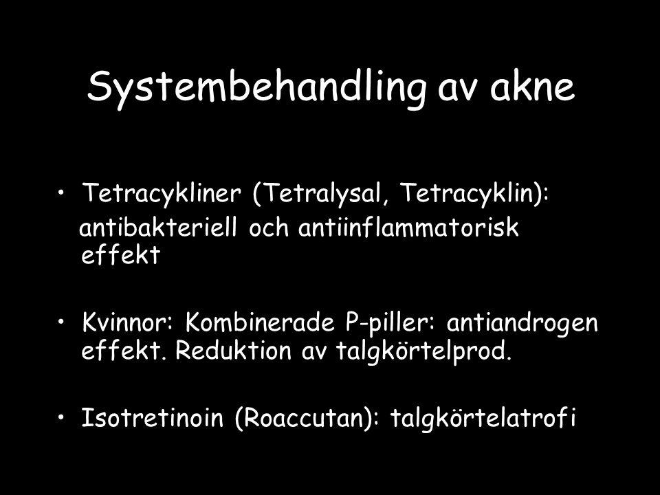 Systembehandling av akne
