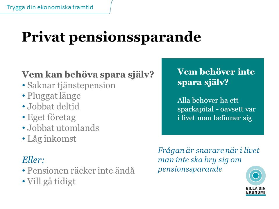 Privat pensionssparande