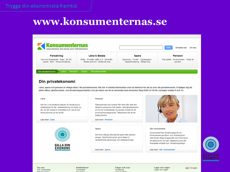 www.konsumenternas.se KONSUMENTERNAS.SE