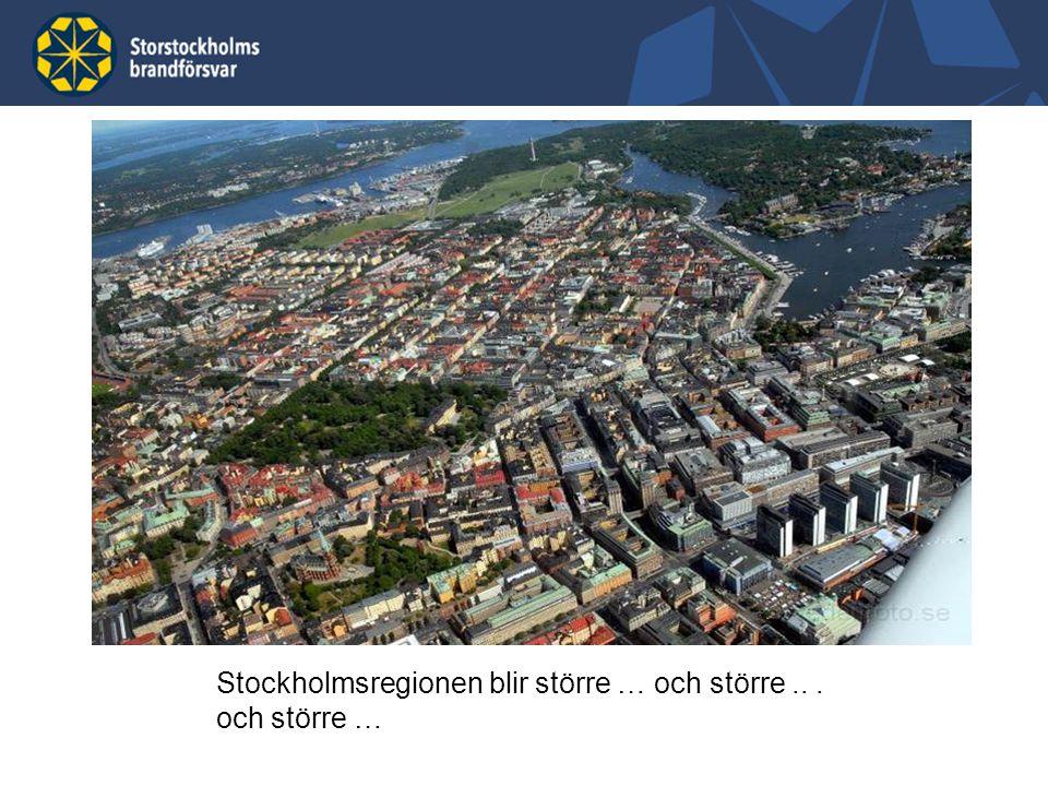 Stockholmsregionen blir större … och större .. . och större …
