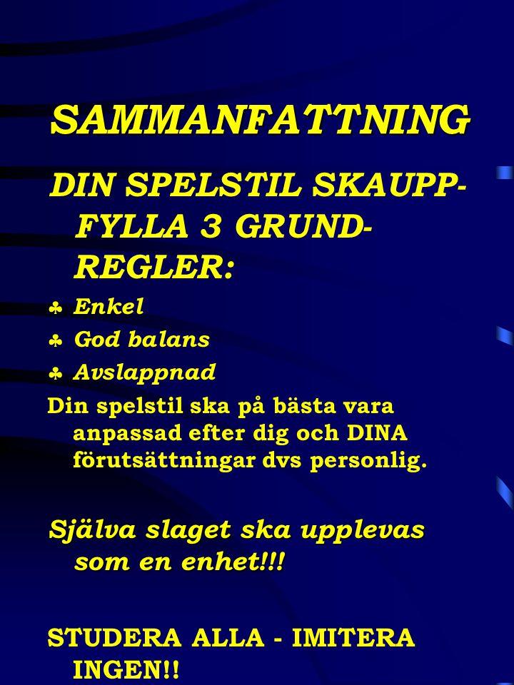 SAMMANFATTNING DIN SPELSTIL SKAUPP- FYLLA 3 GRUND-REGLER: