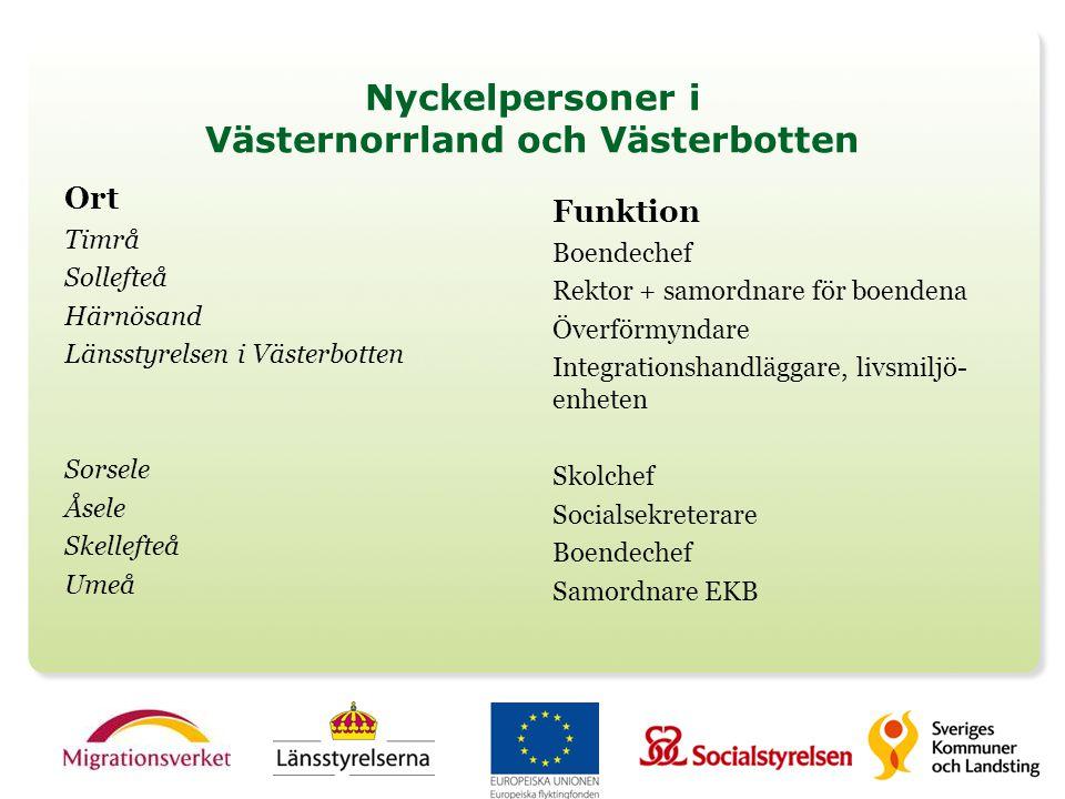 Nyckelpersoner i Västernorrland och Västerbotten