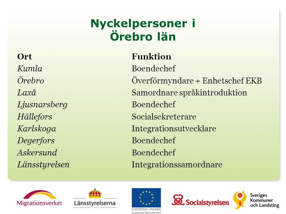 Nyckelpersoner i Örebro län