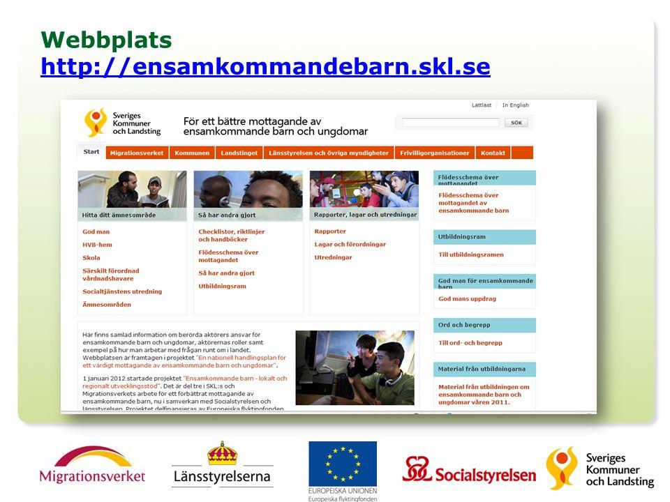 Webbplats http://ensamkommandebarn.skl.se