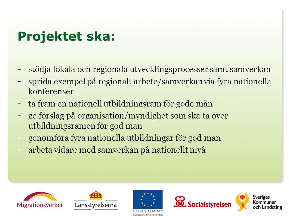 Projektet ska: stödja lokala och regionala utvecklingsprocesser samt samverkan.