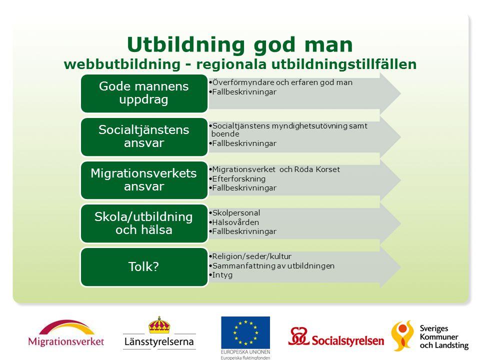 Utbildning god man webbutbildning - regionala utbildningstillfällen