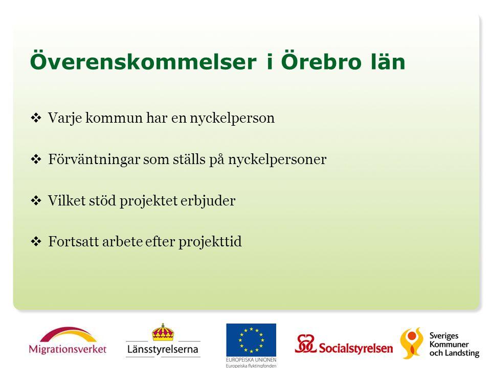 Överenskommelser i Örebro län