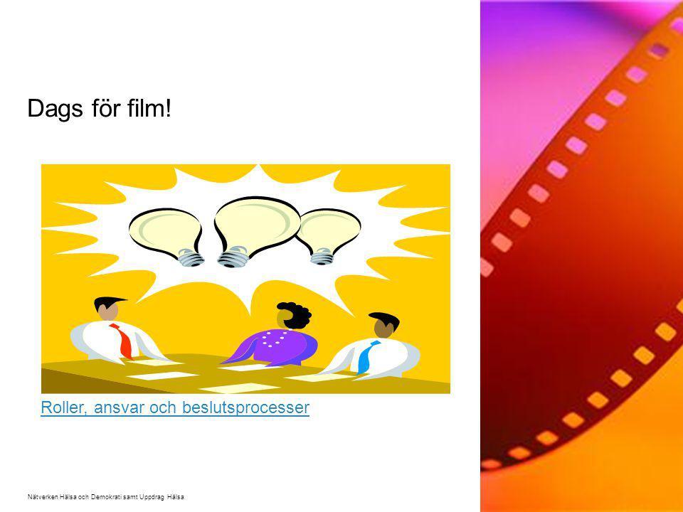 Dags för film! Roller, ansvar och beslutsprocesser