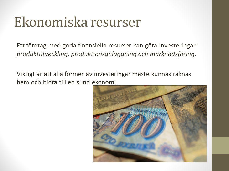 Ekonomiska resurser