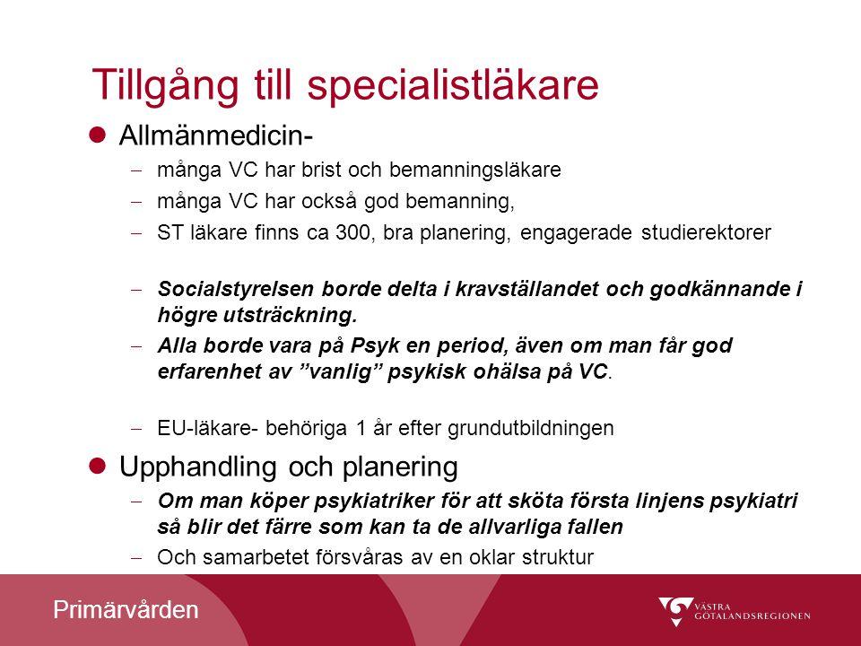 Tillgång till specialistläkare