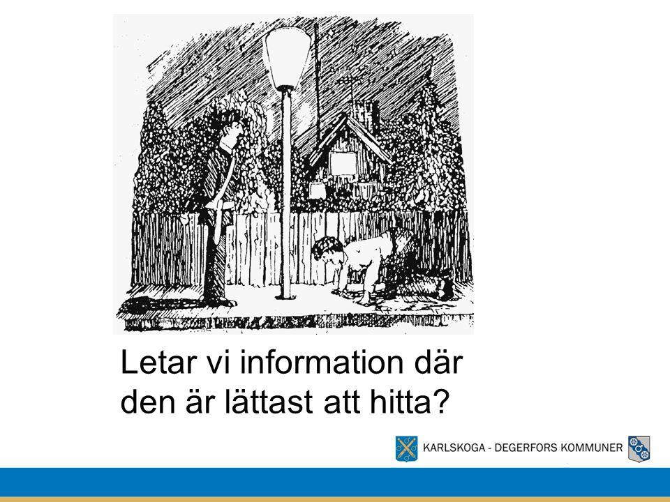 Letar vi information där den är lättast att hitta