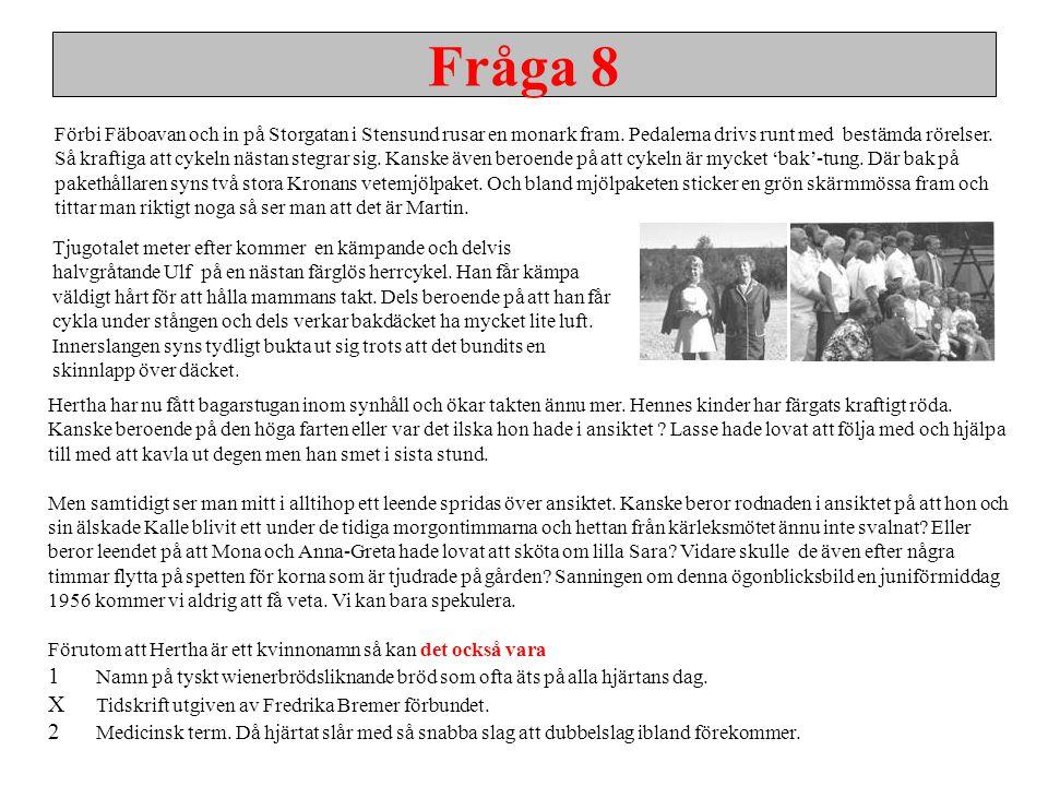 Fråga 8 X Tidskrift utgiven av Fredrika Bremer förbundet.