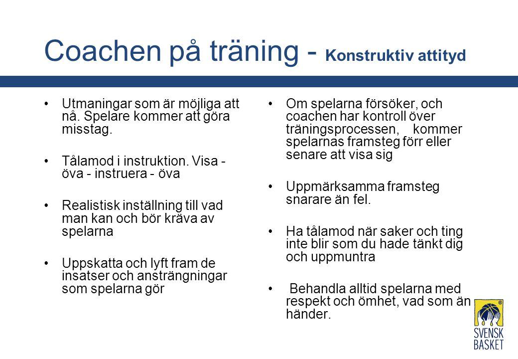 Coachen på träning - Konstruktiv attityd