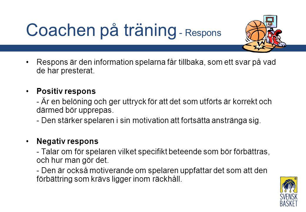 Coachen på träning - Respons