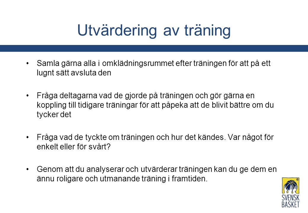 Utvärdering av träning