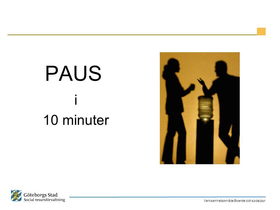 PAUS i 10 minuter