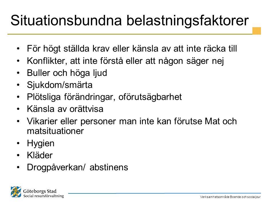 Situationsbundna belastningsfaktorer