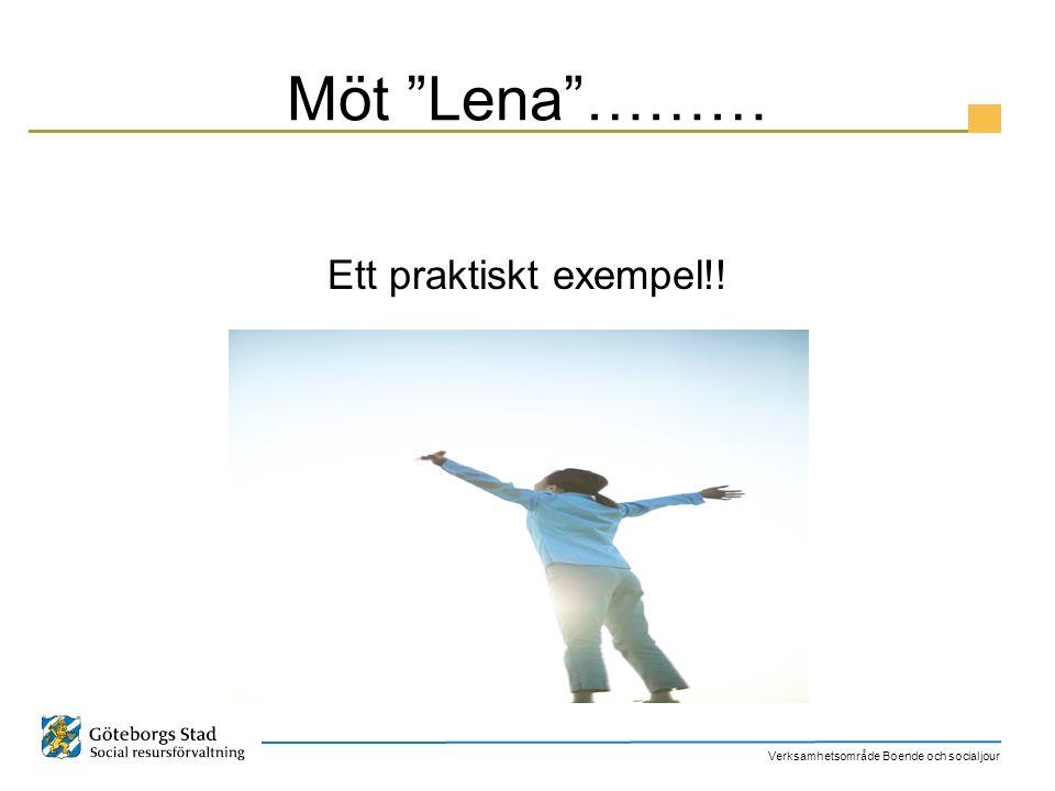Möt Lena ……… Ett praktiskt exempel!!