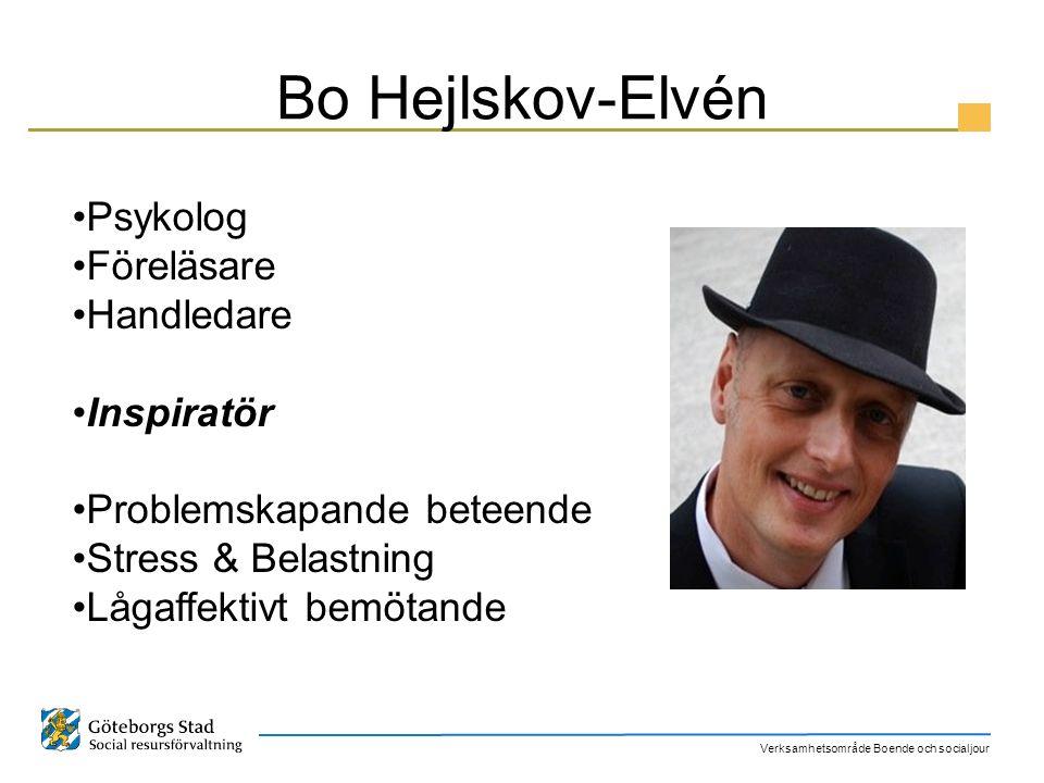 Bo Hejlskov-Elvén Psykolog Föreläsare Handledare Inspiratör