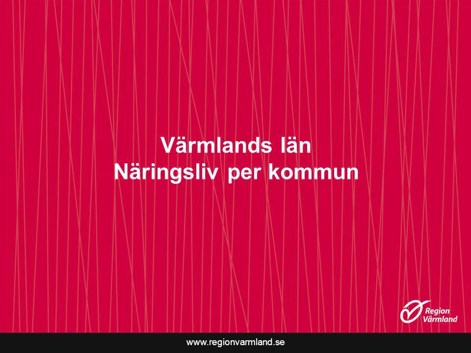Värmlands län Näringsliv per kommun